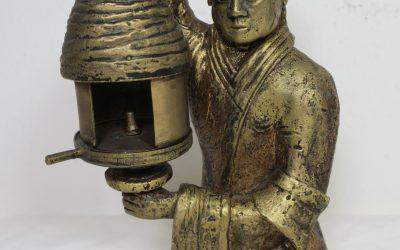 Mädchen mit der Öllampe – Figur / Skulptur Bronze vergoldet 346/998 Replikat nach Han-Dynastie