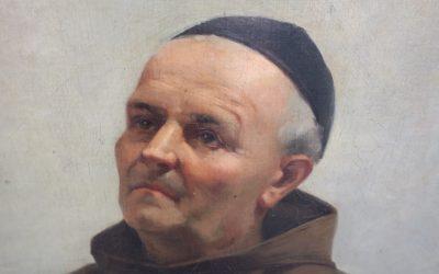 Sallet Jane (XIX) Frankreich Gemälde 1884 Betender Mönch die Arme vor der Brust verschränkt