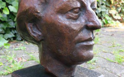 Bronze Kopf / Büste Frau / Dame Monogrammiert SN / NS Skulptur / Figur 1930 er Jahre